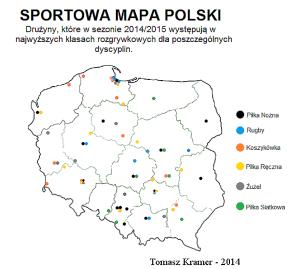 Sportowa mapa Polski